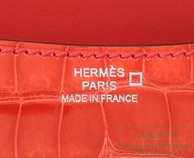 Hermes Constance mini Bougainvillier Alligator crocodile skin Silver hardware