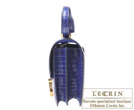 Hermes Constance mini Blue electric Alligator crocodile skin Gold hardware
