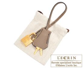 Hermes Birkin bag 30 Black/Etoupe grey Togo leather Gold hardware