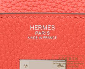 Hermes Birkin bag 30 Rose jaipur Clemence leather Silver hardware