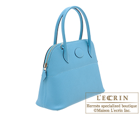Hermes Bolide bag 27 Blue du nord Epsom leather Silver hardware