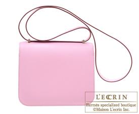 Hermes Constance mini Mauve sylvestre Epsom leather Silver hardware