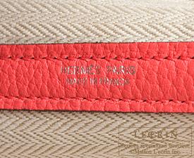 Hermes Garden Party bag TPM Bougainvillier Negonda leather Silver hardware