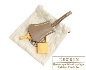 Hermes Birkin bag 25 Rose azalee/Etoupe grey Epsom leather Matt gold hardware