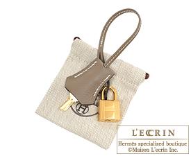 Hermes Birkin bag 30 Etoupe grey Novillo leather Gold hardware