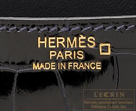 Hermes Constance 24 Blue marine Alligator crocodile skin Rose gold hardware