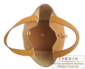 Hermes Picotin Lock bag MM Sesame Maurice leather Gold hardware