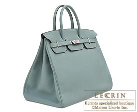 Hermes Birkin bag 40 Ciel Togo leather Silver hardware