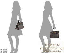 Hermes Birkin bag 30 Graphite Niloticus crocodile skin Gold hardware